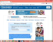 Webmath.com homepage screenshot