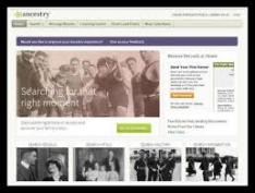 Ancestry Library Edition website page