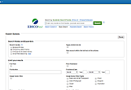 EBSCOhost Databases screenshot